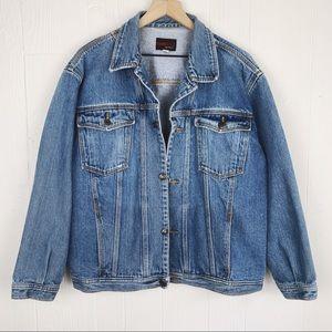 Vintage Cotton Denim Jean Trucker Jacket